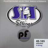 SIT Strings PowerFlat Flatwound 4 String Light Stainless Steel Bass PF45105L