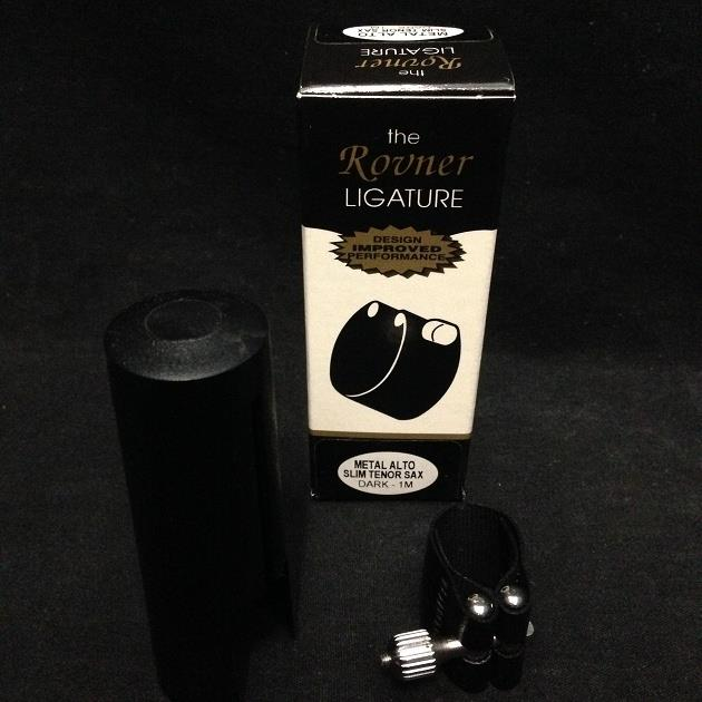 Rovner Dark-1M Metal Alto or Slim Tenor Saxophone Ligature & Mouthpiece Cap *