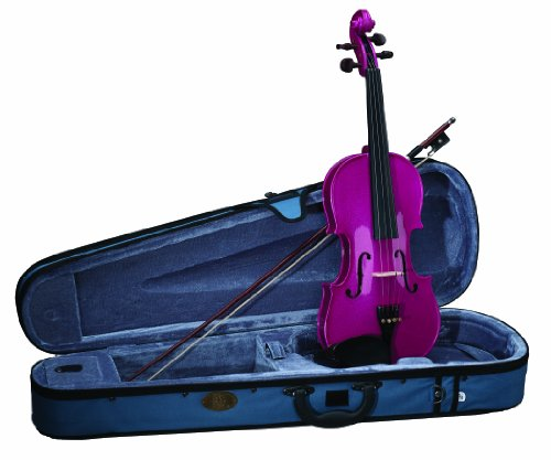 Stentor 1401PK-1/2 Harlequin Series Pink Violin Outfit