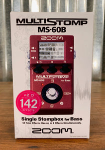 Zoom MS-60B MulitStomp Programmable Bass Guitar Effect Pedal