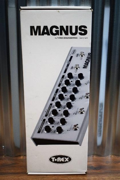 T-Rex Engineering Magnus Reverb Overdrive Delay Tuner Guitar Effect Pedal #88