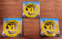 D'Addario EXL125 Super Light Top Regular Bottom Nickel Wound Electric Guitar Strings 9-46 3 Pack