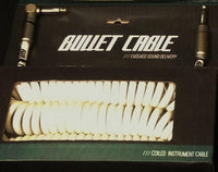 Bullet Cable 30' Coil White Angle & Straight for Guitar &  Bass BC-30CCW