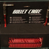 Bullet Cable 30' Coil Red with Angle & Straight for Guitar & Bass BC-30CCR