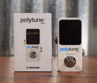 TC Electronic Polytune 3 Mini Polyphonic Chromatic Strobe Guitar Bass Tuner Effect Pedal