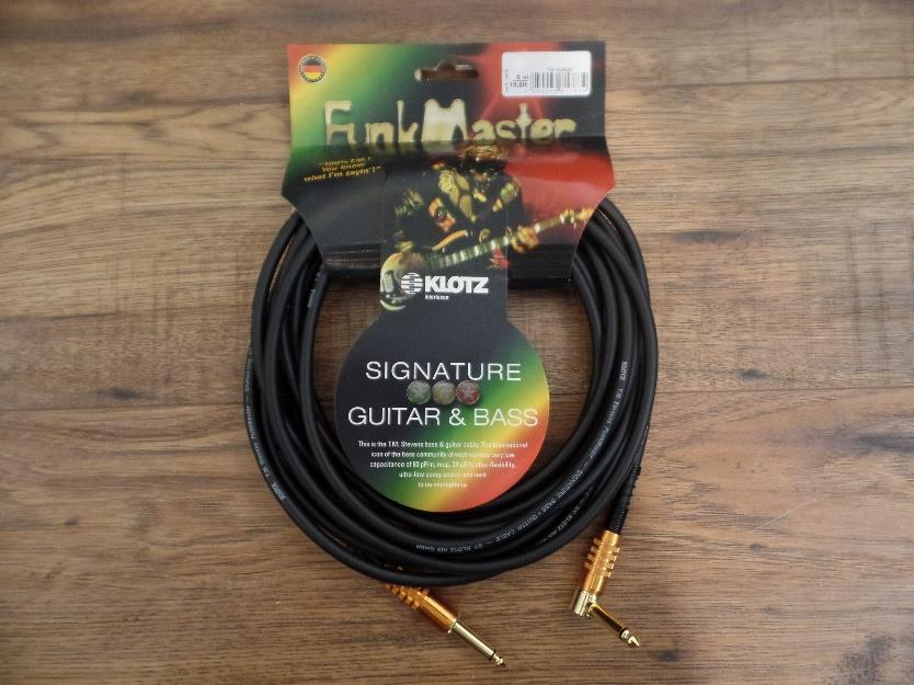 Klotz KLO-TM-R0600 FunkMaster Series Instrument Cable Str/Ang 20ft