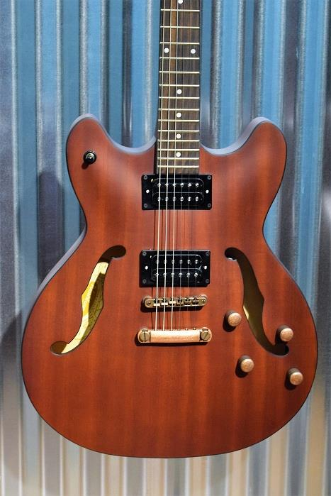 Washburn HB32DMK Distressed Matte Mahogony Semi Hollow Guitar #162