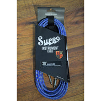 Supro USA CX-20 20' Guitar Bass Instrument Cable Blue