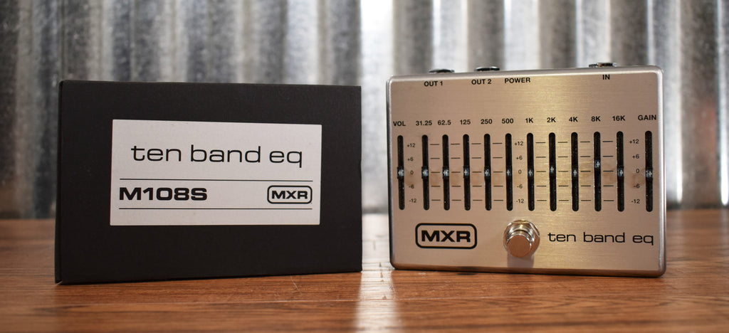 Dunlop MXR M108S 10 Band Graphic Equalizer & Power Supply Guitar EQ Effect Pedal
