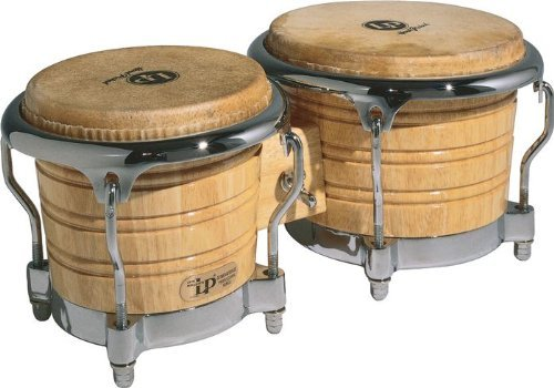 Latin Percussion LP Generation IIÂ Bongos, Natural/Chrome