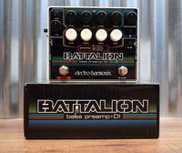 Electro-Harmonix EXH Battalion Bass Preamp EQ Noise Gate DI & Distortion Effect Pedal