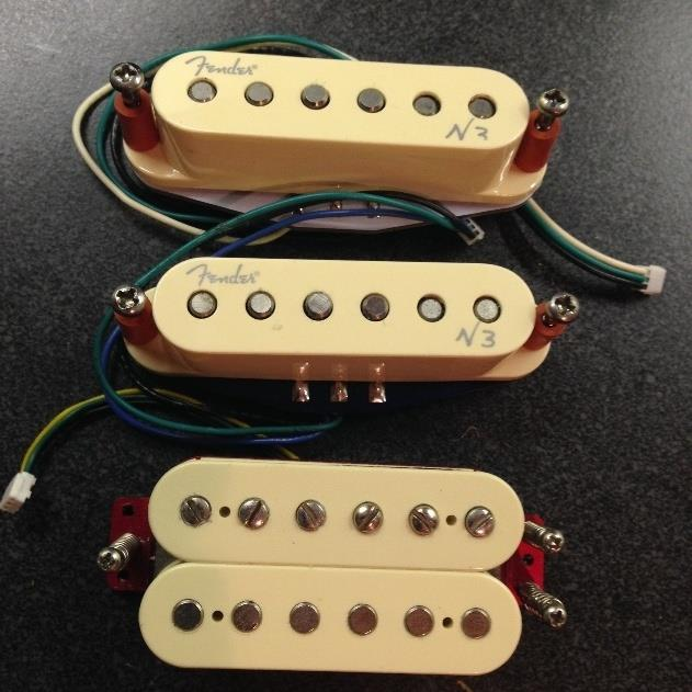 Fender Noiseless N3 Neck & Middle with TH-MD Bridge Humbucker SSH Pickup Set