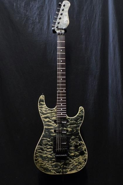 Michael Kelly 1964 Guitar Quilt Top Hint Black Floyd Rose Tremolo Blemish  #2333