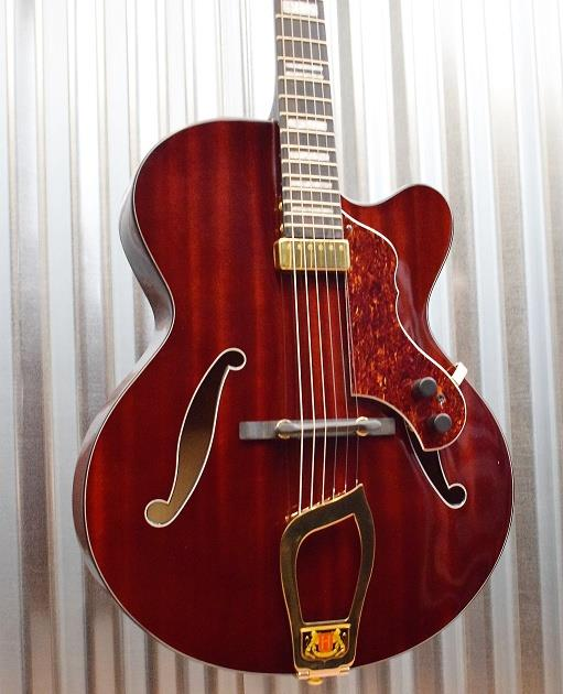 Hagstrom HL-550 HL55-NMG Hollow Body Jazz Guitar Natural Mahogany Gloss #061