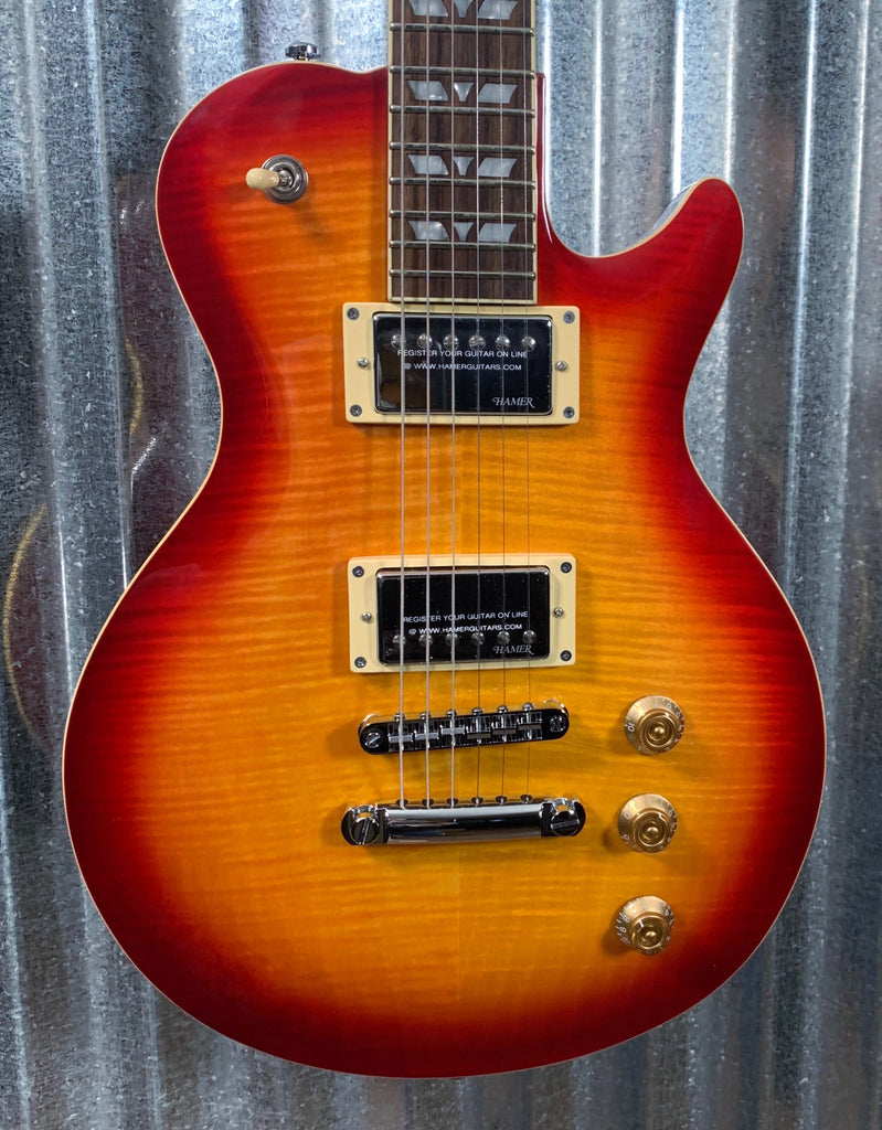 Hamer Monaco Single Cut Cherry Sunburst Electric Guitar MONF-CS #2445
