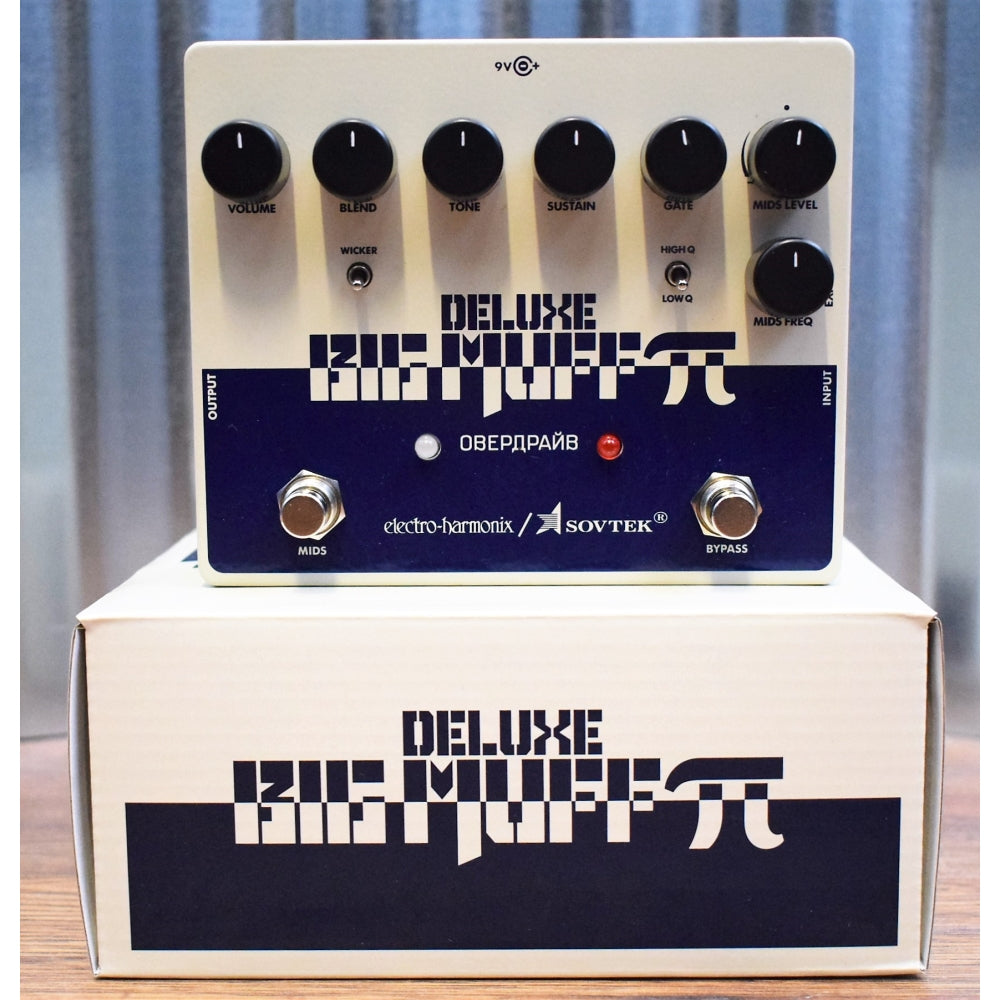 Electro-Harmonix EHX Sovtek Deluxe Big Muff Pi Distortion Sustainer Guitar Effect Pedal