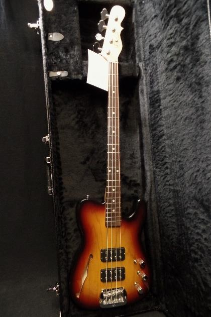 G&L USA ASAT Bass Semi Hollow #8 Neck 3 Tone Sunburst & Hard Case NOS #4374