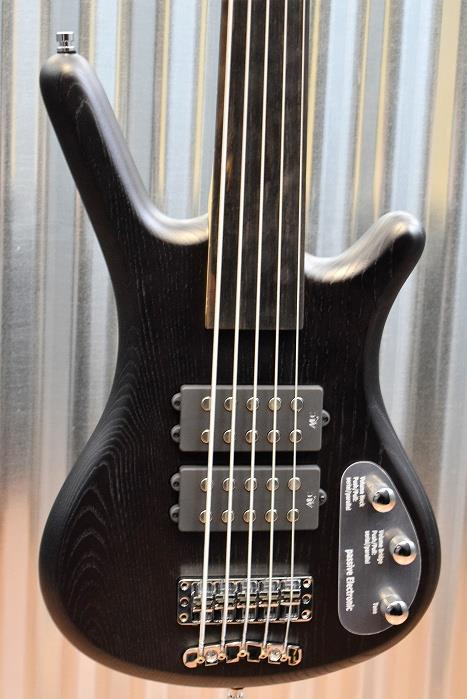 Warwick Rockbass Corvette $$ 5 String Fretless Bass Nirvana Black & Case #2415