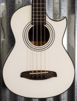 Ortega Guitars Deep Traveler D-Walker-WH White Short Scale Acoustic Electric Bass & Bag B Stock #1381