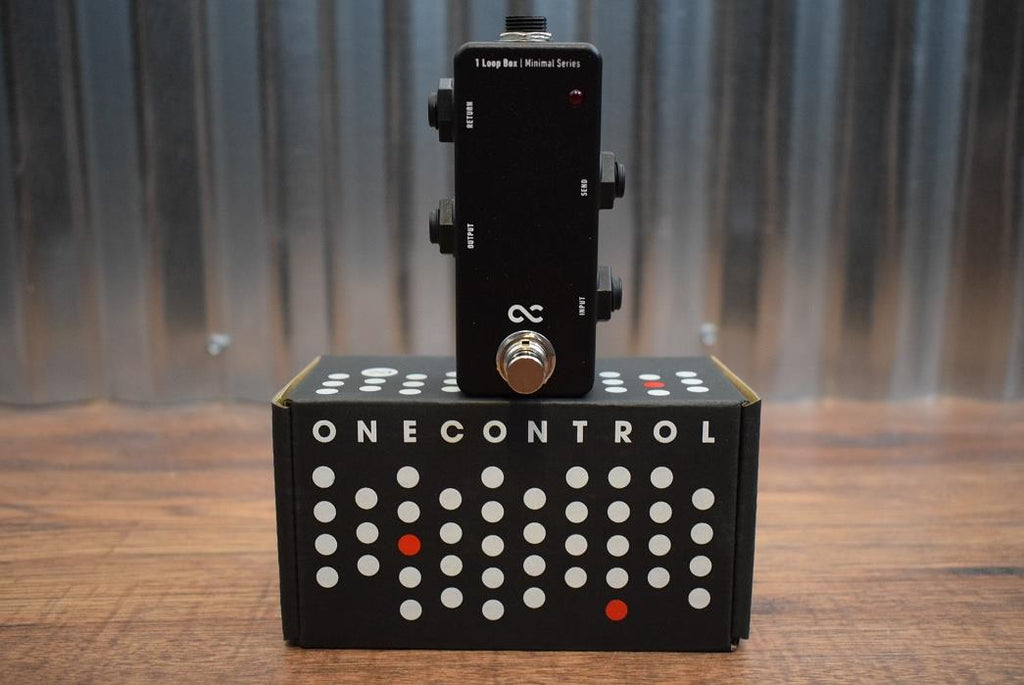 One Control 1 Loop Box Minimal Single Guitar Effect Loop Pedal