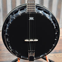 Ortega Guitars Raven OBJ650-SBK 5 String Black Banjo & Bag #0035