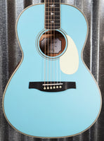 PRS Paul Reed Smith SE P20E LTD ED Acoustic Electric Parlor Powder Blue Guitar & Bag #2937