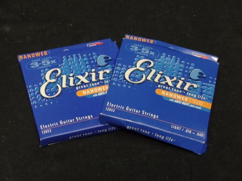 Elixir Electric Guitar Strings Light .010-.046 2 Pk 12052*
