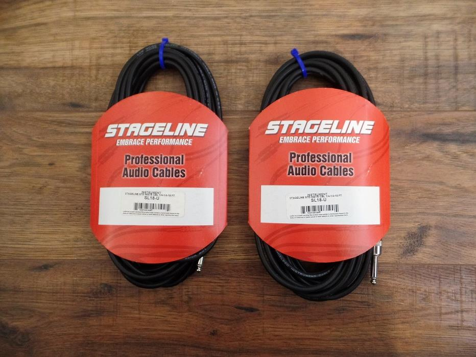 Stageline SL18 SL Series 18 Feet Instrument Cable 1 Pair (2)