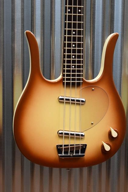 Danelectro Longhorn Copper Burst Electric Bass Guitar Demo #2390
