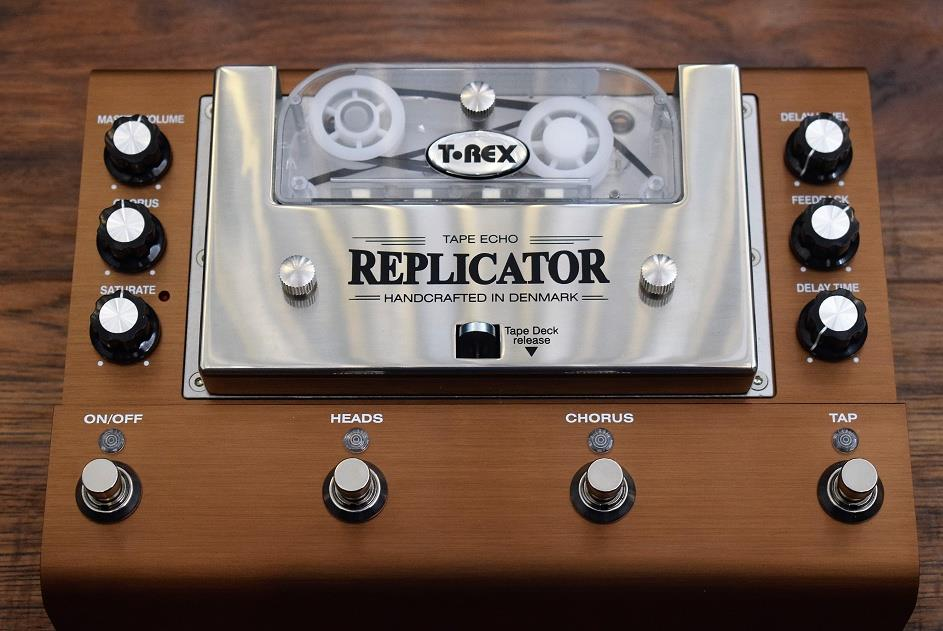 T-Rex Engineering Replicator Tape Echo Guitar Effect Pedal & Case Demo #333