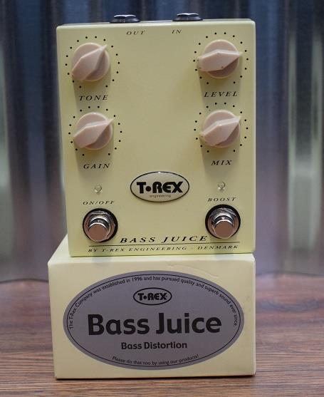 T-Rex Engineering Bass Juice Bass Guitar Overdrive Boost Effect Pedal Demo #918