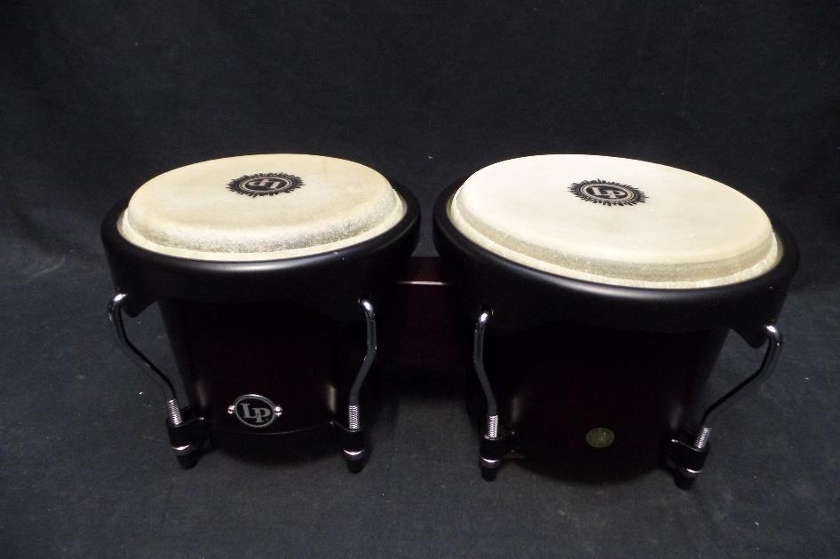 LP Latin Percussion LP601NY-DW LP City Wood Bongos - Dark Wood *