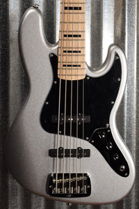 G&L USA JB-5 5 String Jazz Bass Silver Metallic & Case 2020 JB5 #9112