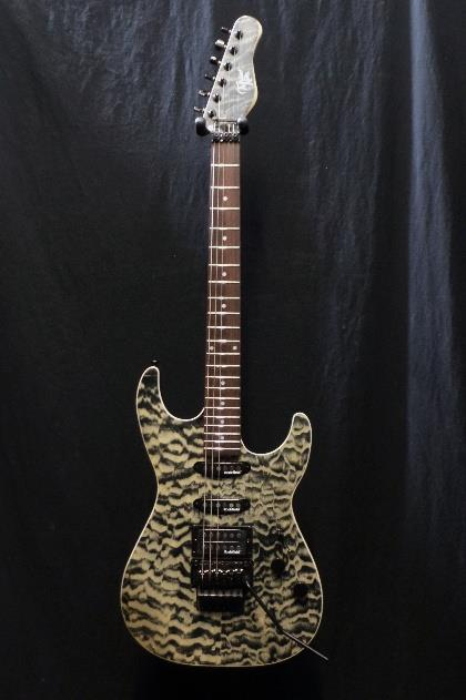 Michael Kelly 1964 Guitar Quilt Top Hint Black Floyd Rose Tremolo Blemish  #2805
