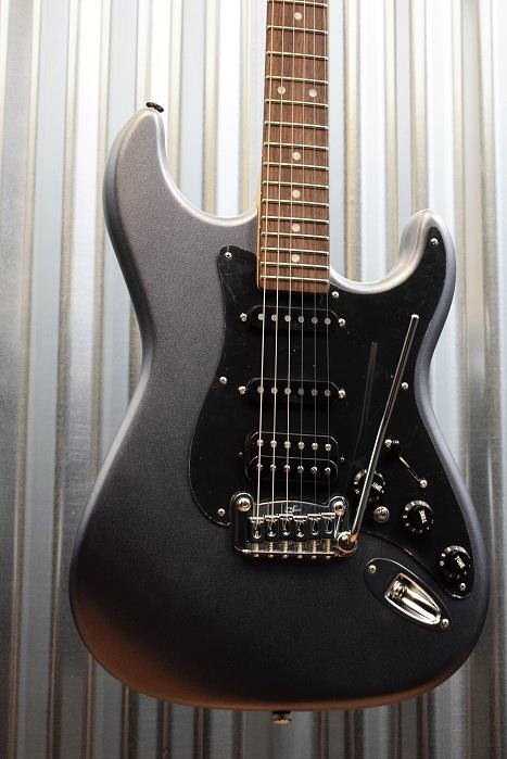 G&L Guitars USA Legacy HSS Graphite Metallic Frost Electric Guitar & Case #8821