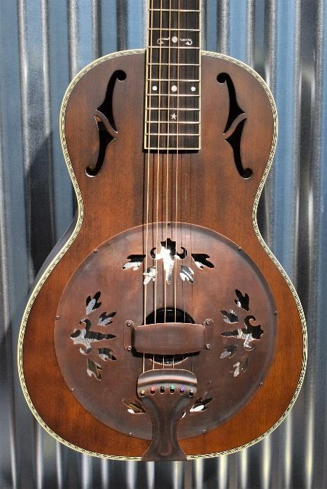 Washburn R360K Distressed Bronze Parlor Resonator Acoustic Guitar & Case #840