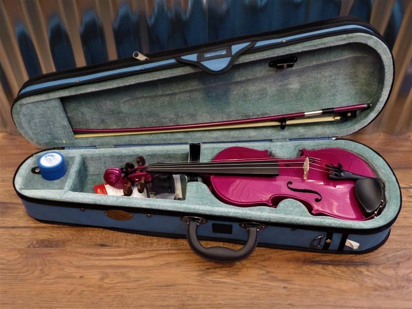 Stentor Harlequin Series 1/2 Violin Pink with Bow & Case #1020 *
