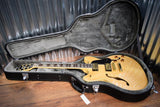 Washburn HB35NK Semi Hollow Electric Guitar Natural Flame Top & Hard Case #616