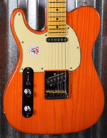 G&L Tribute ASAT Classic Clear Orange Left Hand Guitar #0311 Used