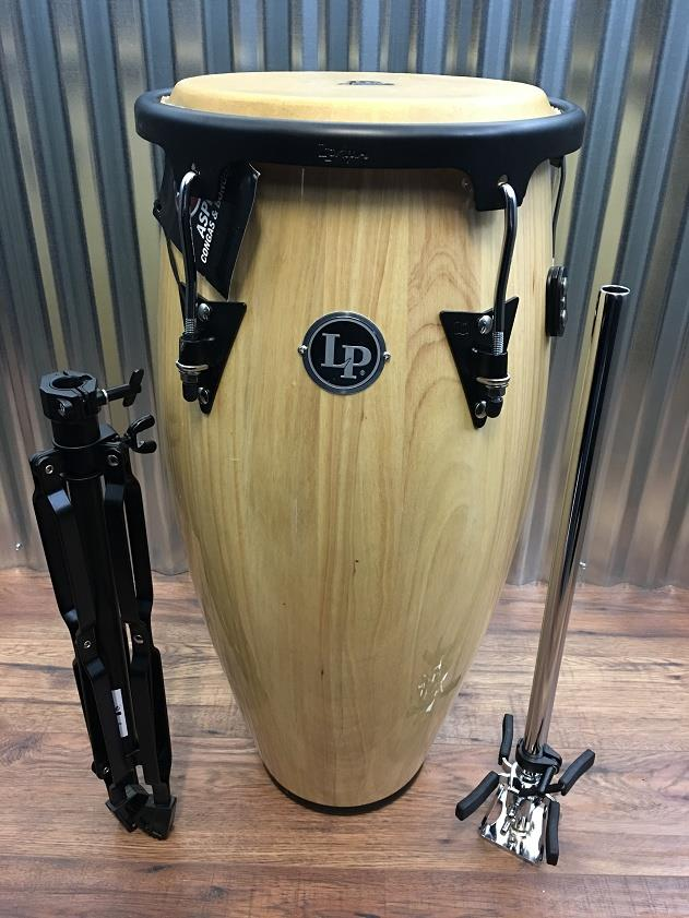 "Latin Percussion LP Aspire LPA646-AW 11"" Wood Natural Conga & Stands #5010 *"