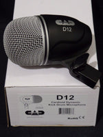 CAD Audio D12 Cardioid Dynamic Bass Drum Microphone