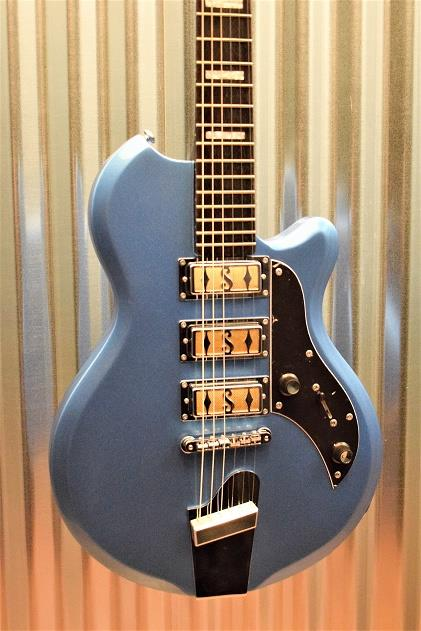 Supro Island Series 2030BM Hampton Blue Metallic Guitar & Case #390