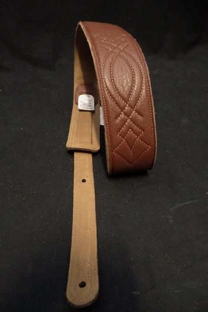Levy's Leather DM1SG-BRN 2.5 Inch Gament Leather Guitar Strap Brown