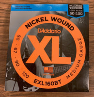 D'Addario EXL160BT Balanced Tension Medium Nickel Wound Long Scale Bass 4 Strings 50-120