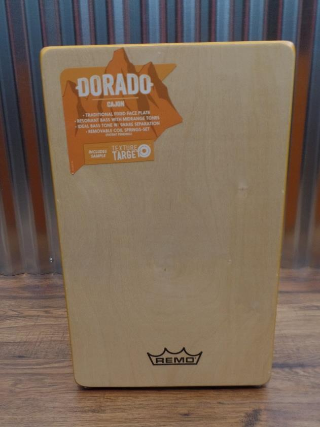 Remo CJ-6220-A1 Dorado Cajon with Natural Face Plate & Amber Body #5002 *