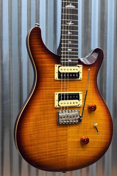 PRS Paul Reed Smith SE Custom 24 Tobacco Sunburst Tremolo Guitar & Gig Bag #2400