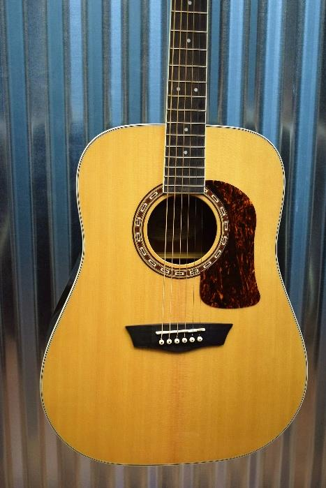Washburn Heritage HD20S Sold Spruce Top Dreadnought Acoustic Guitar & Case #0802