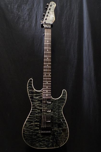 Michael Kelly 1964 Guitar Quilt Top Hint Black Floyd Rose Tremolo Blemish  #2093