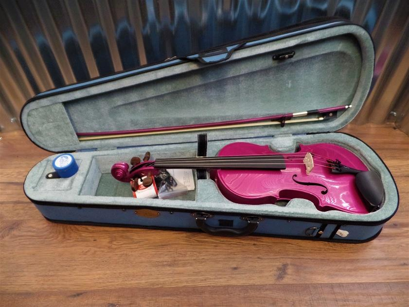Stentor Harlequin Series 4/4 Violin Pink with Bow & Case #1019 *
