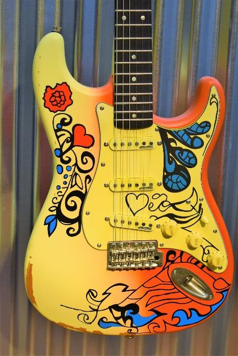 Vintage Guitars Icon V6MRHDX Thomas Blug Signature Summer of Love Guitar & Case